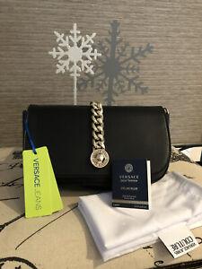 STUNNING Versace Jeans Black Crossbody Bag! FREE Perfume!