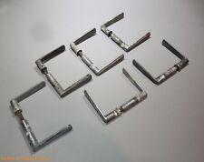 lot de 12 poignées de porte vintage (6 paires) aluminium loft industriel