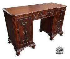 Fine Antique Georgian Walnut Executive Desk 19th Century.