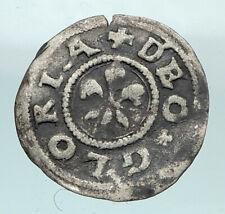1400-1500 AD FRANCE Strasbourg Antique Silver 2 Kreuzer French Coin i80893
