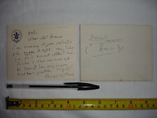 Used letter + envelope to Charles V. France, signed by a George Arthur? (#V)
