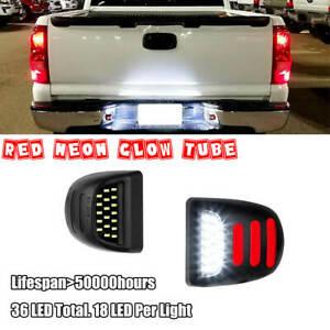 LED License Plate Light Kit 6000K Canbus For Silverado GMC Sierra 1500 2500 3500
