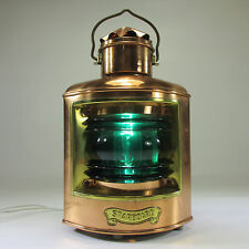 Kupfer Schiffslampe Tischlampe Kajütenlampe Alte Deko Lampe Vintage Lampe