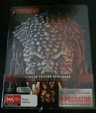 The Predator 4K Ultra HD + Blu-Ray  Steelbook Edition Region B Brand New Sealed
