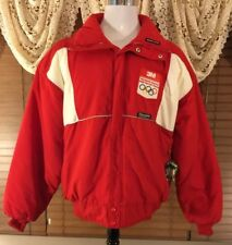 Mens VINTAGE SUNICE 1988 OLYMPICS JACKET L Large Red Thinsulate Made In USA EUC