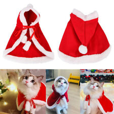 Cat Dog Christmas Costume Pet Puppy Kitten Hoodie Coat Jumper Xmas Cosply Props