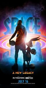 Space Jam 2 Movie Film 2021, DECAL Poster Art Print New Legacy Lebron James Bugs