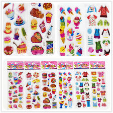 "Stickers lot--3D PVC Foam Classic cartoon children""Food and clothes""Stickers lot"