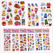 "3D PVC Foam Sticker lot Classic cartoon children""Food and clothes"" kid favor hot"