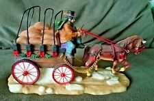 Horsedrawn Carriage Figurine by O'Well, Polyresin