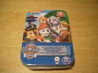 """NICKELODEON PAW PATROL 24 piece PUZZLE IN A TIN 5""""x7"""" (12.7x17.7cm) NEW + SEALED"""