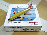 Herpa Wings 1:500 500562 SWA Southwest Airlines B737-300 Die-cast Aircraft Model