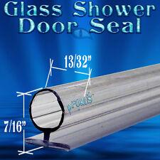 """7/16"""" Tall DS106 Frameless Glass Shower Door Seal, Wipe, Sweep  - 98"""" Long"""