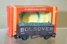 HORNBY R136 BOLSOVER WEATHERED WITH LOAD MINERAL WAGON No 6390 MIB og