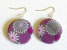 Lilac Lil shell earrings