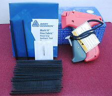 "10312 Avery Dennison Fine Fabric Price Tagging Gun + 5000 1"" Black Barbs"