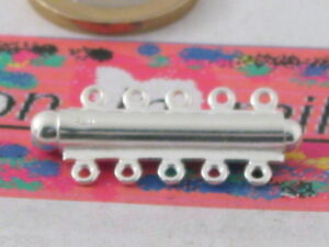 1 chiusura ad innesto  in argento 925 di 32 x 13 mm x 5 fili made in italy