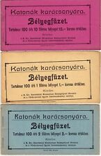 HUNGARY 1915 Military Christmas Seals RED CROSS 3 booklets