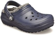 Crocs Kids Classic Lined Slip On Clog Navy