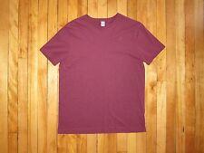Men's Size L G Star Raw Maroon Heathered 60/40 Basic Crew Neck T-Shirt