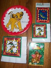 6pc Lot 1994 Beach Lion King Grubs Birthday Multi-color Party Goods  NOS