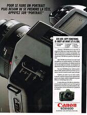 PUBLICITE ADVERTISING 114  1989  CANON appareil photo EOS 600