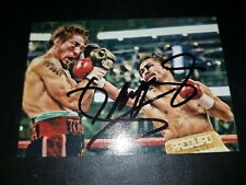 Autograph photo sign by Manny Pacquiao authentic with COA rare genuine boxing