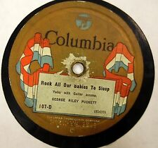 GEORGE RILEY PUCKETT Rock all our babies to sleep 78rpm country 1924   c1306