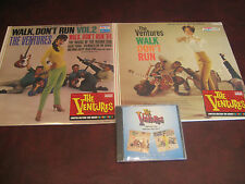 THE VENTURES Walk Don't Run/Walk Don't Run Vol. 2 RARE CD + 180 GRAM COLORED LPS