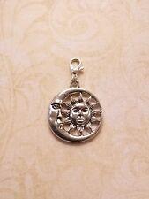 Sonne und Mond Anhänger für Ketten ♥ Schmuckzubehör Basteln Deko Charms Silber