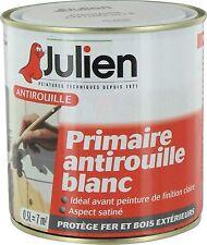 PEINTURE PRIMAIRE ANTIROUILLE BLANC 0.5L JULIEN protection anticorrosion métaux