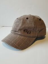 Womans Pink Brown Plaid Gonzaga University Embroidered Hat Short Bill Legacy Brn
