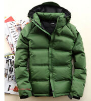Mens Warm Thick Duck Down Jacket Hooded Winter Puffer Coats Parka Outwear New