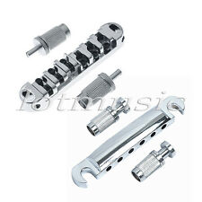 Electric Guitar Locking Roller Bridge Tailpiece Chrome for Guitar Parts