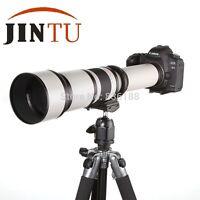 JINTU 650-1300mm f/8.0-16 Telescope Ultra-telephoto Zoom Lens for Canon Camera