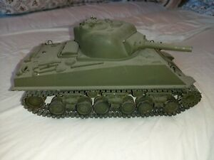 Tamiya M4 Sherman r/c Tank Vintage upgraded tracks and gearboxes