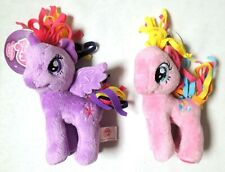 "ESAR0674. MLP Cute Plush 6"" Pony Lot: Twilight Sparkle and Pinkie Pie (2014)"