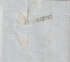 Complete brief 29 dec 1855 Zwijndrecht (naamstempel) via Rotterdam (dagtekening)