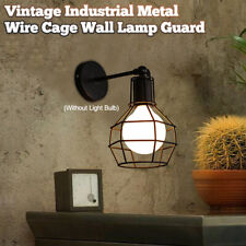 Vintage Industrial Metal Wire Cage Wall Lamp Guard Light Protection Retro Style