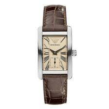 EMPORIO ARMANI Brown Leather Strap Ladies Watch AR0155