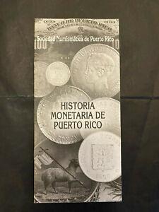 Puerto Rico 2000s, SNPR Brochure Informativo Historia Monetaria de PR, 16pgs
