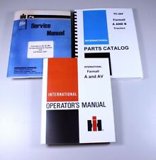 FARMALL A AV TRACTOR SERVICE REPAIR SHOP PARTS OPERATOR MANUAL SET INTERNATIONAL