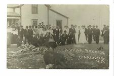 Carrington NORTH DAKOTA RP 1909 DUTCH WEDDING Beer KEG Pigs nr New Rockford FARM