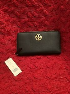 Tory Burch Black Leather Wallet NWT