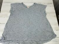 Womens XL Mossimo Hi Low Loose Oversize Stretch Soft Rayon Gray Tunic Top