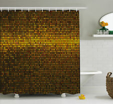 Abstract Shower Curtain Gold Disco Theme Art Print for Bathroom 70 Inches Long