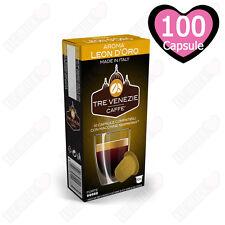 100 CIALDE CAPSULE CAFFE' TRE VENEZIE AROMA LEON D'ORO COMPATIBILI NESPRESSO
