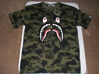 Authentic A Bathing APE BAPE 1ST CAMO SHARK TEE T SHIRT GREEN 2XL NEW RARE