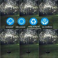 2/4X 90 LED Solar Firework Lights Waterproof Outdoor Path Lawn Garden Decor Lamp