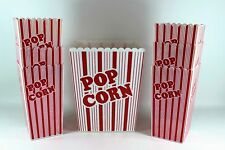 Retro Red & White Movie Popcorn Bucket/Tub with 6 Smaller Serving Buckets  GUC